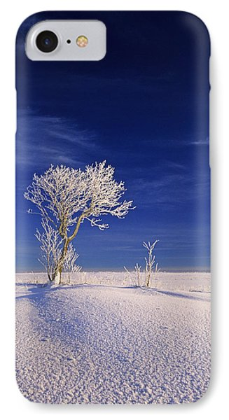Hoar Frost On Trees, Bungay, Prince Phone Case by John Sylvester