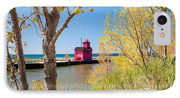 Holland Mi Lighthouse IPhone Case by Larry Carr