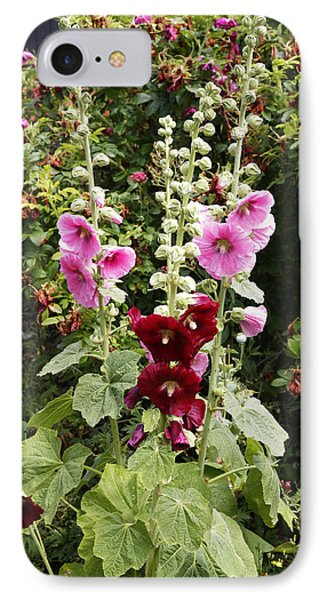 Hollyhock (alcea Rosea) Phone Case by Dr Keith Wheeler
