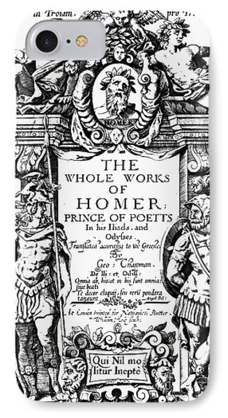 Homer Title Page, 1616 Phone Case by Granger