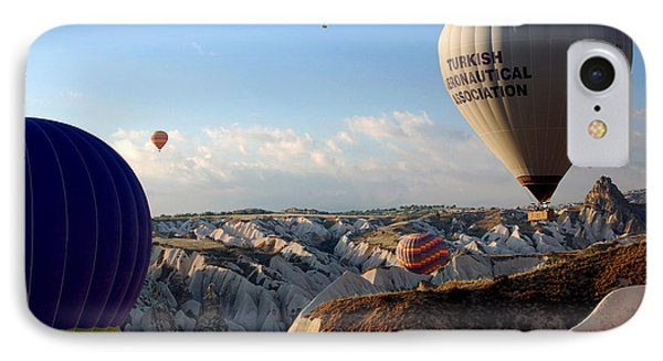 Hot Air Balloons Over Cappadocia Phone Case by RicardMN Photography