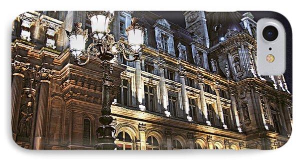 Architecture iPhone 7 Case - Hotel De Ville In Paris by Elena Elisseeva