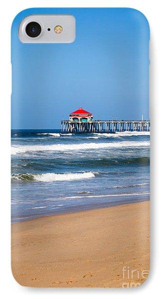 Huntington Beach Pier In Orange County California Phone Case by Paul Velgos