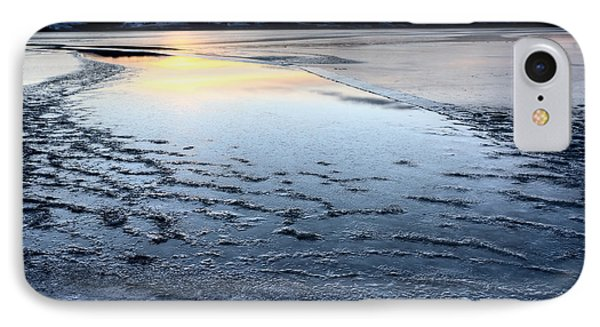 Ice Forming On Lake IPhone Case by Mark Duffy