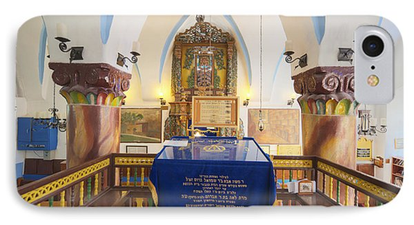 Interior Of Synagogue Sanctuary IPhone Case by Noam Armonn
