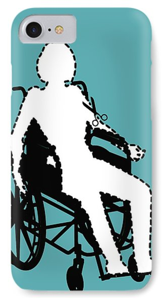 Isolation Through Disability, Artwork Phone Case by Stephen Wood