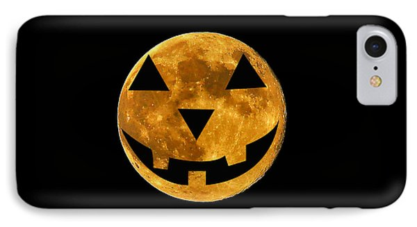 Jack-o-lantern Moon IPhone Case by Al Powell Photography USA