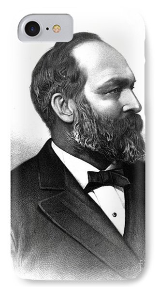 James A. Garfield, 20th American Phone Case by Photo Researchers