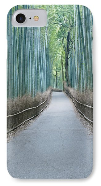 Japan Kyoto Arashiyama Sagano Bamboo IPhone Case by Rob Tilley