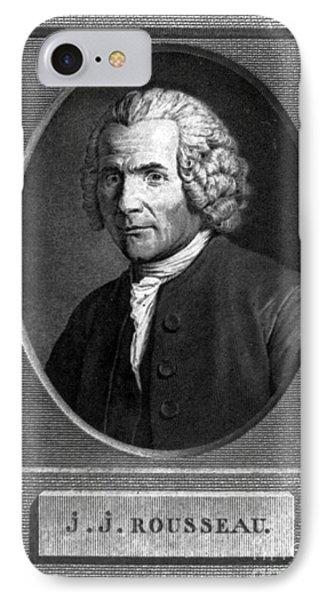 Jean-jacques Rousseau, Swiss Philosopher Phone Case by Photo Researchers