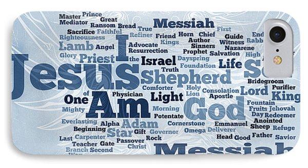 Jesus Messiah 2 Phone Case by Angelina Vick