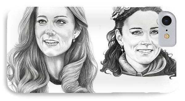 Kate Middleton IPhone Case by Murphy Elliott