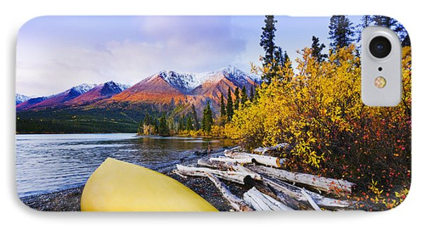 Kathleen Lake And Mountains, Kluane Phone Case by Yves Marcoux