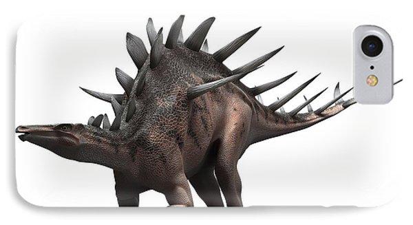 Kentrosaurus Dinosaur, Artwork Phone Case by Sciepro