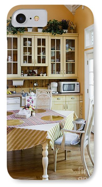 Kitchen Cabinets And Table Phone Case by Andersen Ross