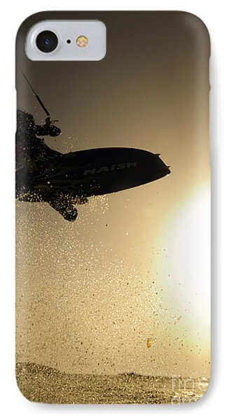 Kitesurfing At Sunset IPhone Case