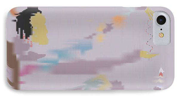 IPhone Case featuring the painting Kundalini Reveals Dna by Kevin McLaughlin