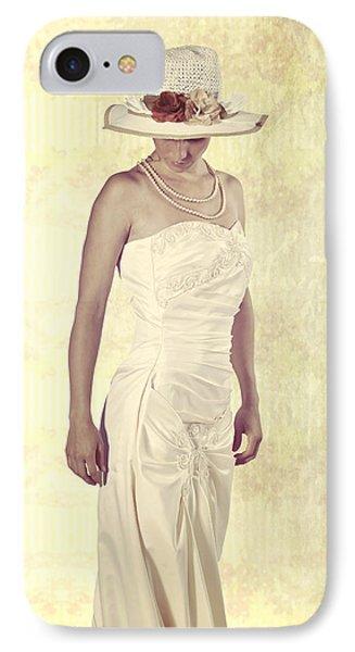 Lady In White Dress Phone Case by Joana Kruse