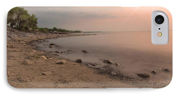 Lake Erie Sunset IPhone Case by Cindy Haggerty