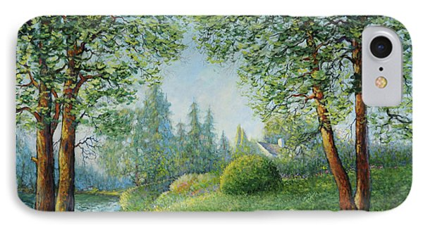 Lake Steilacoom IPhone Case by Charles Munn