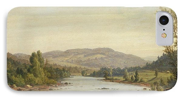 Landscape With River IPhone Case by Sanford Robinson Gifford