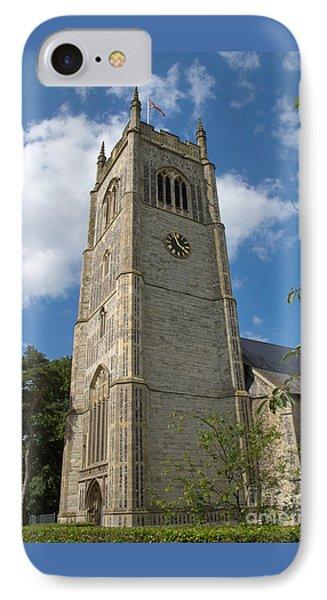 Laxfield Church Tower Phone Case by Ann Horn