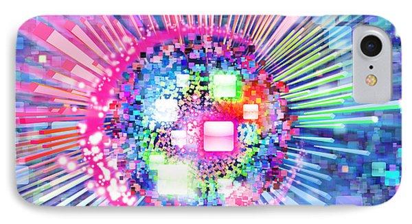 Lighting Effects And Graphic Design IPhone Case by Setsiri Silapasuwanchai