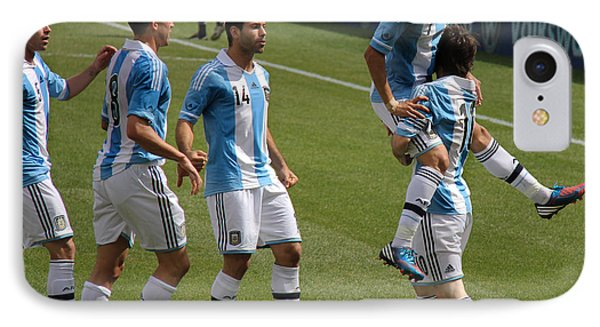Lionel Messi The Hug Phone Case by Lee Dos Santos