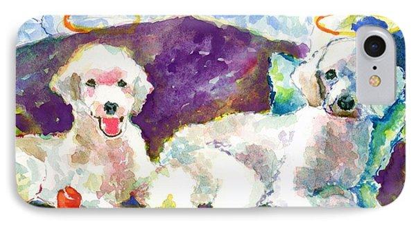 Little Angels Poodles Phone Case by Marsden Burnell