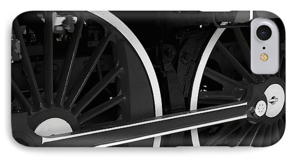 Locomotive Wheels IPhone Case by Dariusz Gudowicz