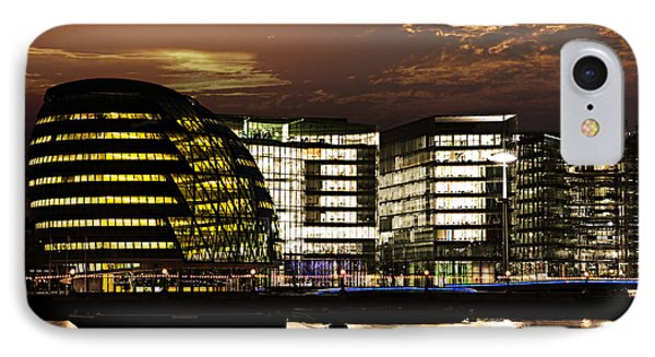 London City Hall At Night Phone Case by Elena Elisseeva