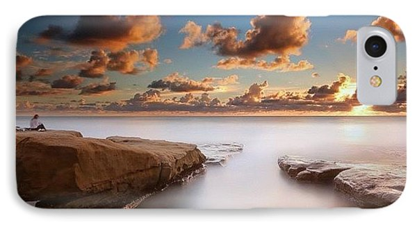 Long Exposure Sunset At A San Diego IPhone Case by Larry Marshall