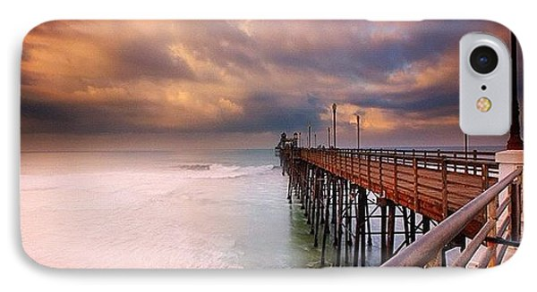 iPhone 7 Case - Long Exposure Sunset At The Oceanside by Larry Marshall