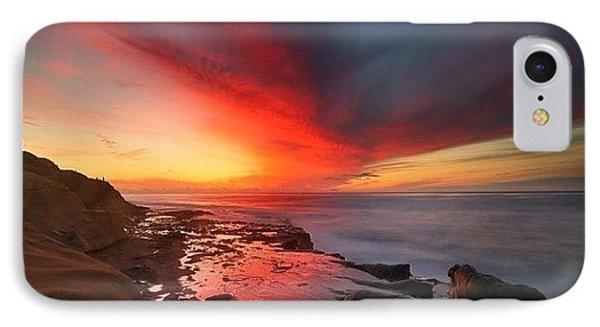 iPhone 7 Case - Long Exposure Sunset In La Jolla by Larry Marshall