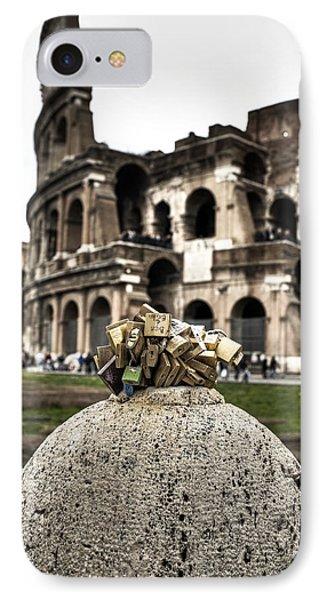love locks in Rome Phone Case by Joana Kruse