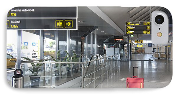 Luggage Sitting Alone In An Airport Terminal Phone Case by Jaak Nilson