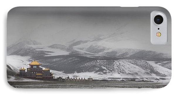 Machen Lhagong Monastery. A Newly IPhone Case by Phil Borges