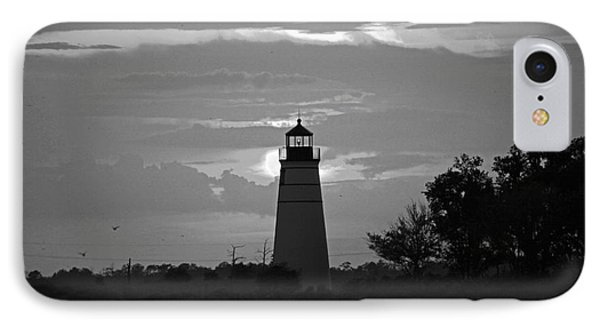 IPhone Case featuring the photograph Madisonville Lighthouse Sunset by Luana K Perez