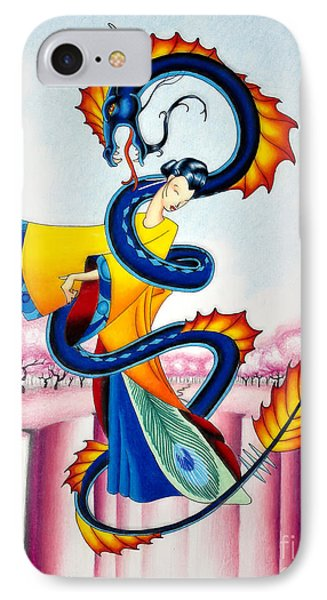 Maiden And Serpent IPhone Case by Robert Ball