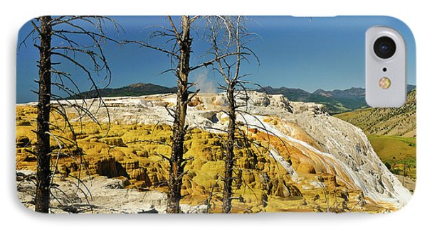 Mammoth Upper Terrace IPhone Case by Greg Norrell