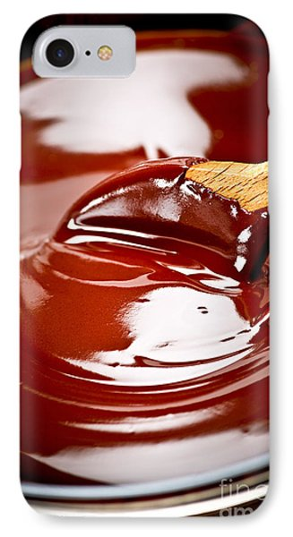 Melted Chocolate And Spoon IPhone Case