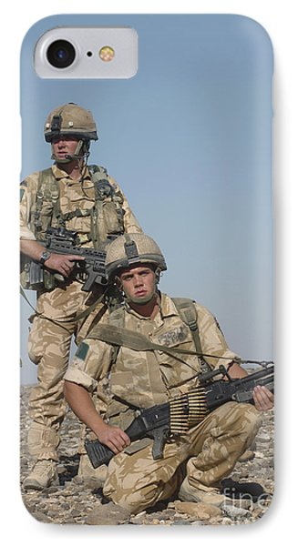 Members Of The British Army On Foot Phone Case by Andrew Chittock