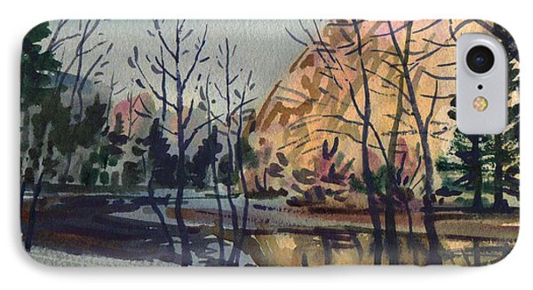 IPhone Case featuring the painting Merced River In Winter by Donald Maier
