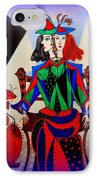 IPhone Case featuring the painting Metamorphosis Of Eleonore by Marie Schwarzer