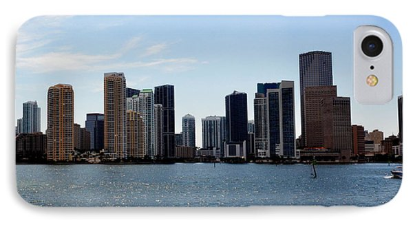 IPhone Case featuring the photograph Miami Skyline by Pravine Chester