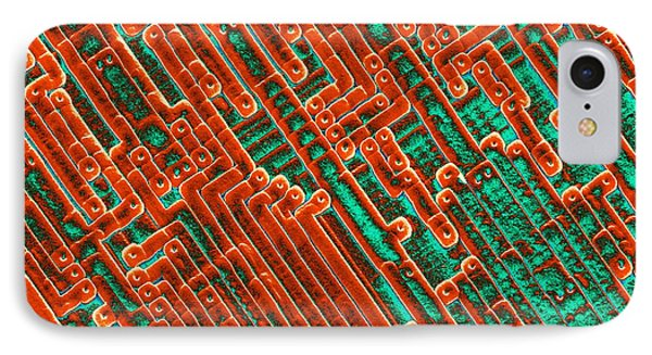 Microchip Circuitry, Sem Phone Case by Power And Syred