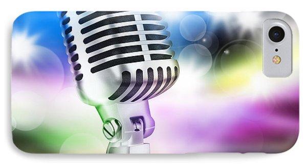 Microphone On Stage Phone Case by Setsiri Silapasuwanchai
