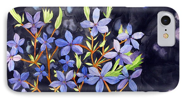 IPhone Case featuring the painting Midnight Blue by Debi Singer