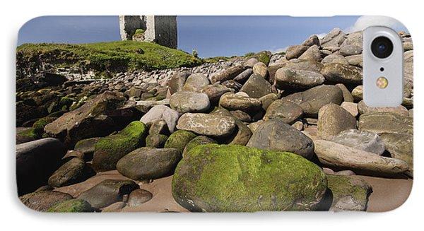 Minard Castle And Rocky Beach Minard Phone Case by Trish Punch