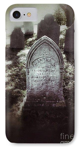 Misty Graveyard Phone Case by Jill Battaglia